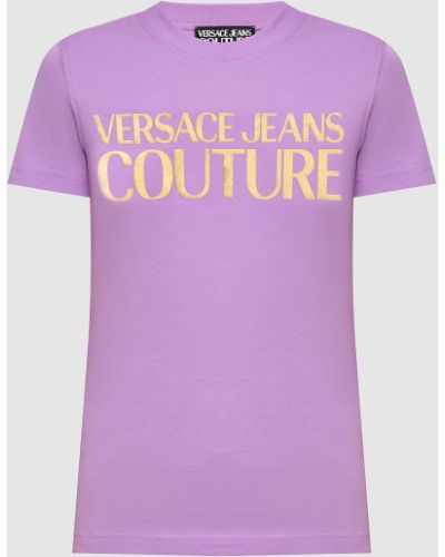 Фиолетовая футболка Versace Jeans Couture