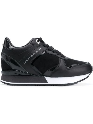 Массивные черные кожаные кроссовки Tommy Hilfiger