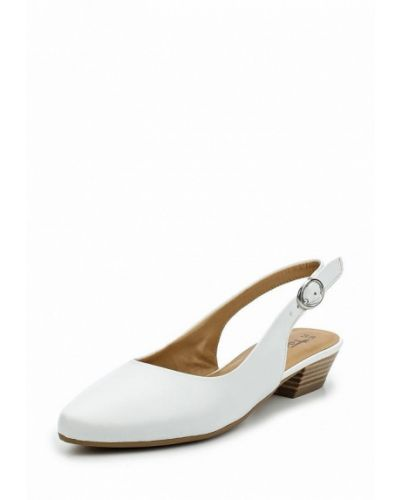 Кожаные туфли с открытой пяткой на каблуке Tamaris