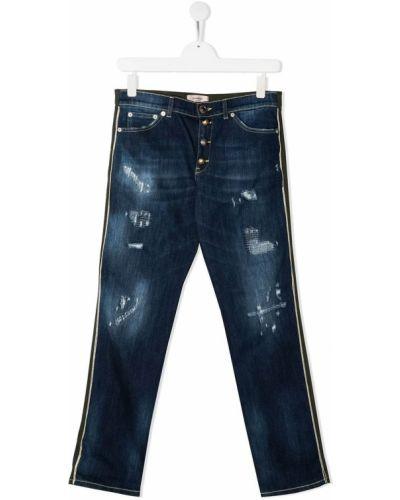 Классические прямые черные прямые джинсы с карманами Dondup Kids
