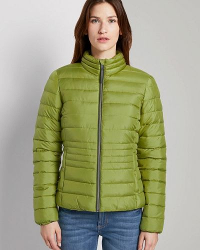 Зеленая теплая куртка Tom Tailor