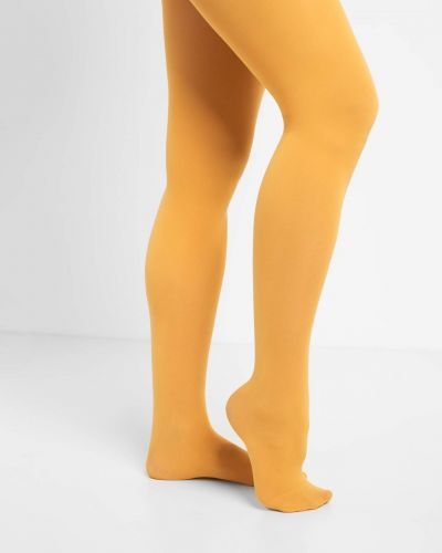 Klasyczne żółte rajstopy z nylonu Orsay