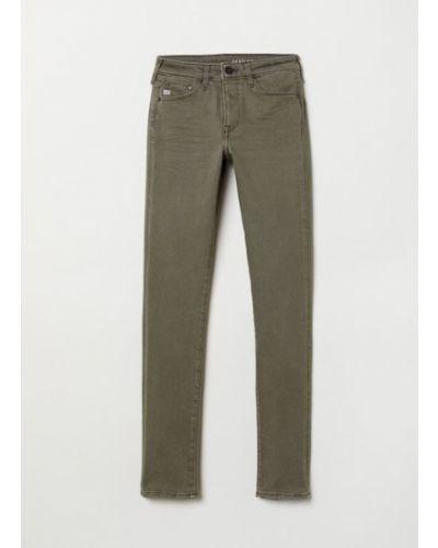 Зеленые джинсы с карманами H&m