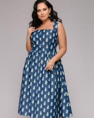 Летнее платье джинсовое на бретелях 1001 Dress