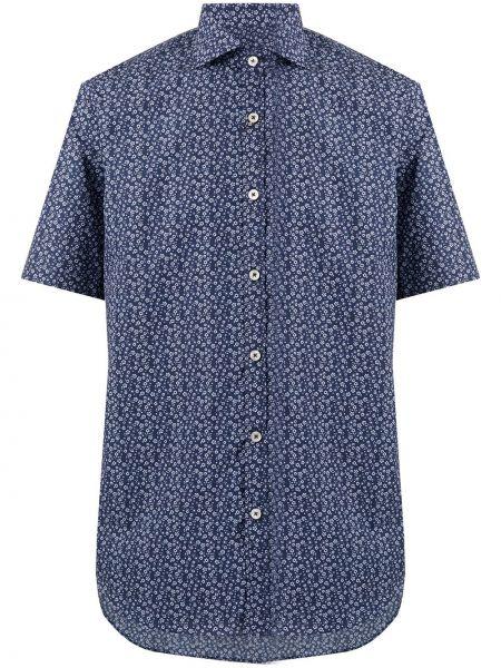 Koszula krótkie z krótkim rękawem klasyczna z kołnierzem Canali