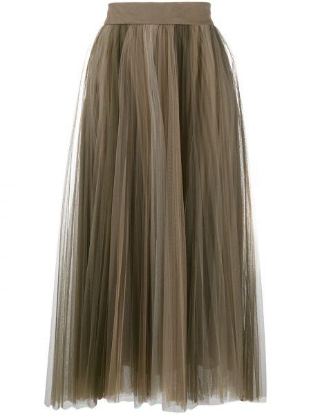 Jedwab spódnica wysoki wzrost Brunello Cucinelli