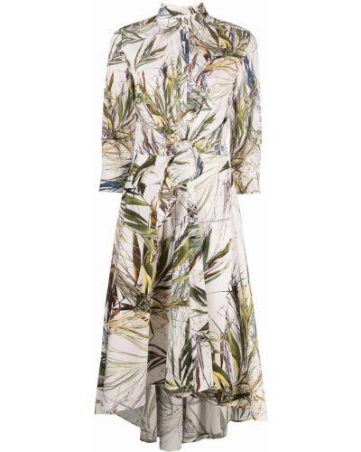 Прямое платье-рубашка с поясом с воротником Sara Roka