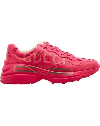 Кроссовки на платформе винтажные с логотипом Gucci