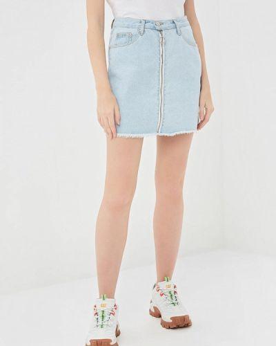 Джинсовая юбка весенняя голубой Glamorous