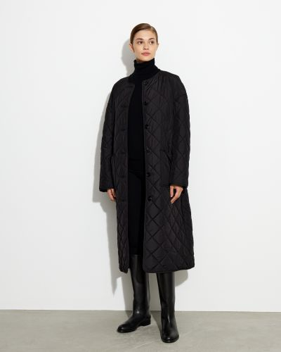 Стеганое пальто - черное 12storeez