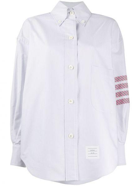 Рубашка с воротником с заплатками свободного кроя на пуговицах Thom Browne