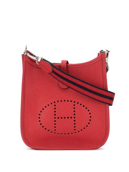 Skórzana torebka crossbody perforowany Hermès Pre-owned