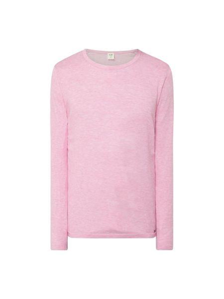 Prążkowany różowy sweter bawełniany Olymp Level Five