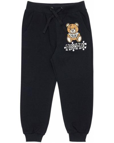 Bawełna bawełna czarny joggery z kieszeniami Moschino