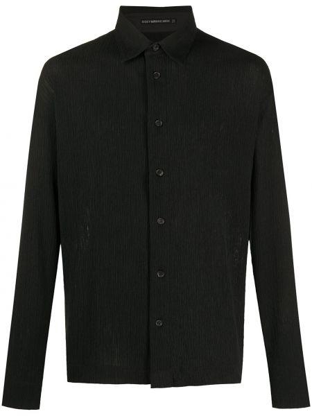 Koszula z długim rękawem prosto czarna Issey Miyake