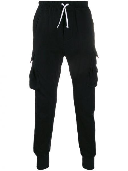 Черные брюки карго с карманами для беременных Not Guilty Homme