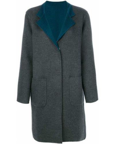 Шерстяное пальто с капюшоном Manzoni 24