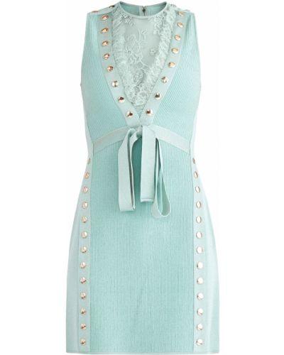 Платье мини с декольте с цветочным принтом Elie Saab