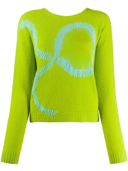 Кашемировый свитер в рубчик свободного кроя с круглым вырезом Suzusan