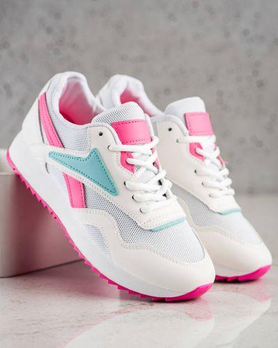 Białe buty sportowe na platformie Shelovet