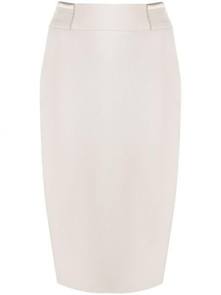 Biała spódnica ołówkowa z wysokim stanem bawełniana Peserico