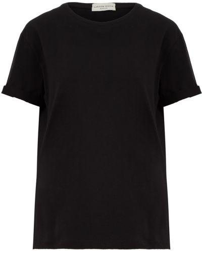 Хлопковая черная футболка Laroom