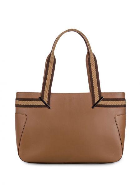Коричневая парусиновая сумка-тоут с подкладкой Gucci Pre-owned