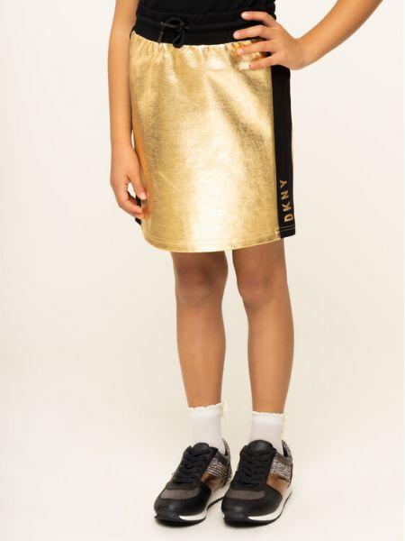 Żółta złota spódnica Dkny