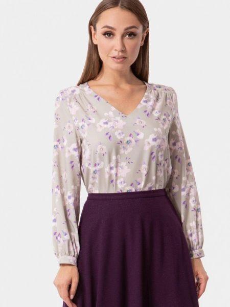 Блузка серая осенняя Vladi Collection