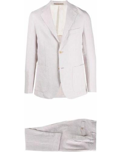 Biały garnitur bawełniany z długimi rękawami Eleventy