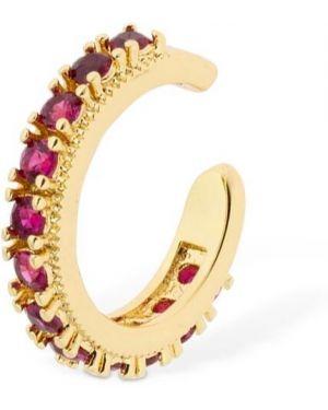 Różowe złote kolczyki ze złota z cyrkoniami Camila Carril