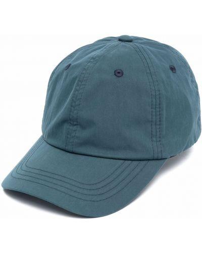 Niebieska czapka z haftem Acne Studios