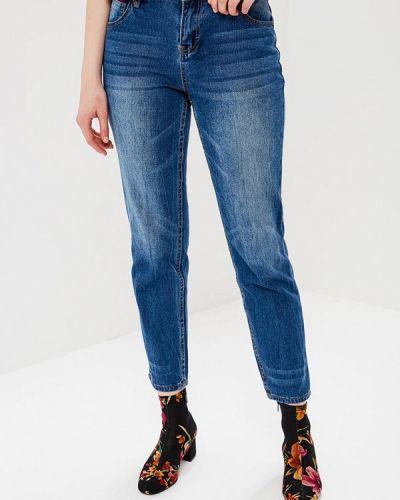 Синие джинсы с высокой посадкой Incity
