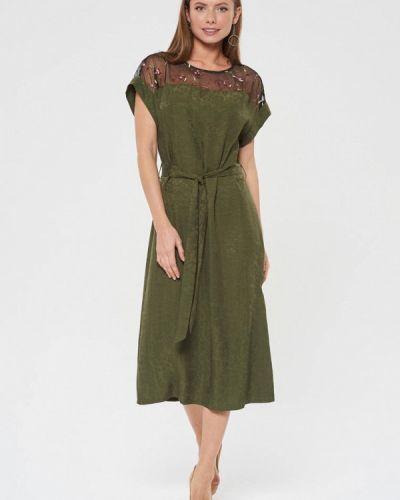 Платье прямое зеленый Akimbo