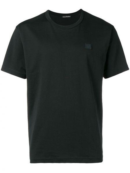 Футбольная черная футболка со стразами Acne Studios