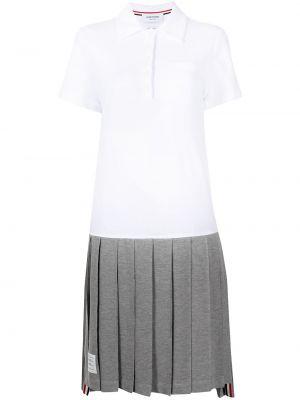 Biała sukienka krótki rękaw Thom Browne