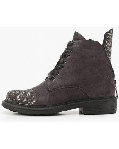 Велюровые серые ботинки Lolli L Polli