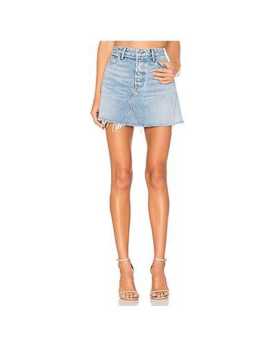 Юбка мини джинсовая на пуговицах Grlfrnd