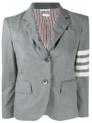 Шерстяной пиджак - серый Thom Browne
