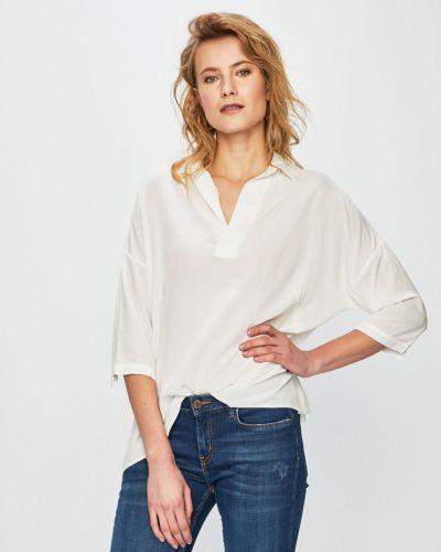 Блузка с коротким рукавом однотонная из вискозы Answear