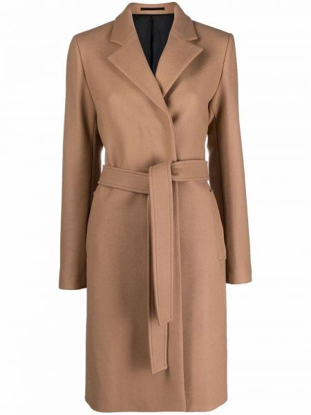 Długi płaszcz wełniany - brązowy Filippa K