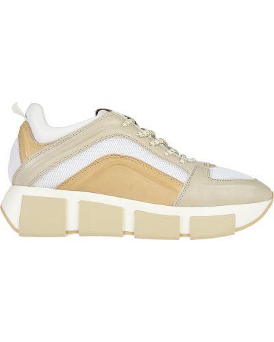 Кожаные кроссовки - бежевые Vic Matie