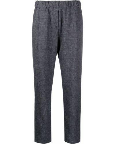 Шерстяные синие брюки эластичные Fabiana Filippi