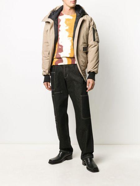 Хлопковая коричневая куртка с капюшоном Y/project
