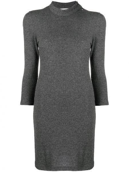 С рукавами шерстяное серое платье Ba&sh