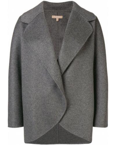 Серое шерстяное пальто Michael Kors Collection