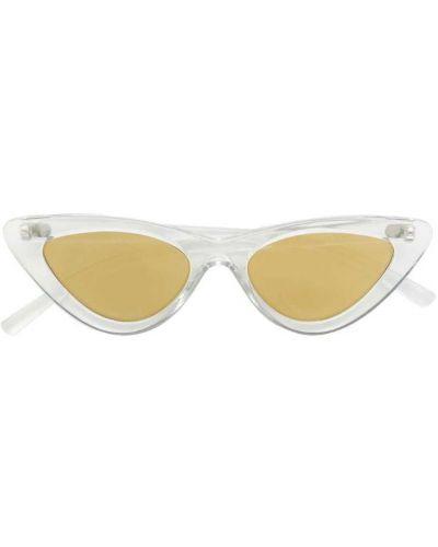 Бежевые солнцезащитные очки Le Specs