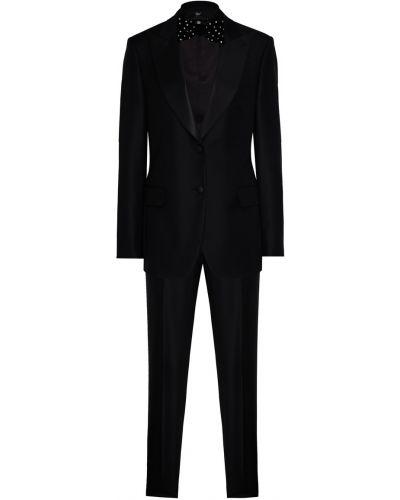 Однобортный приталенный черный костюм Maison Bohemique