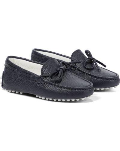 Niebieskie loafers skorzane Tod's Junior