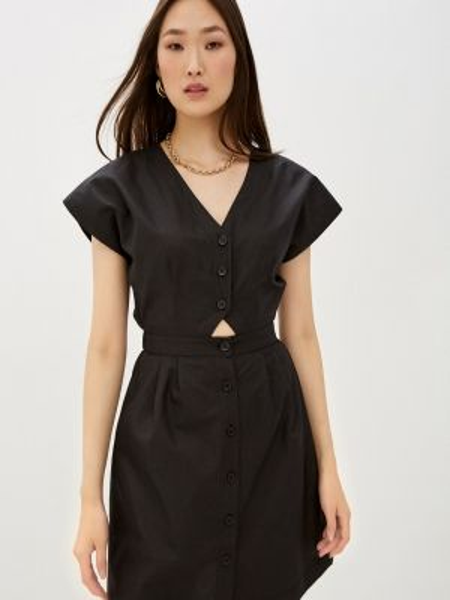 Платье платье-рубашка черное Befree